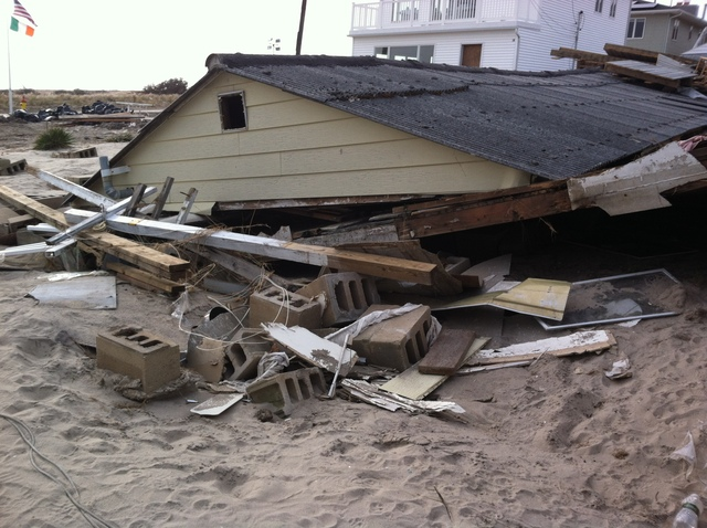 <p>A destroyed home in Breezy Point, Queens. The city confirmed Nov. 18 it will be conducting at least 200 demolitions on homes it has deemed unsafe, officials said.</p>