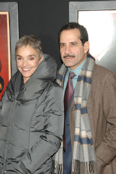 <p>Brooke Adams and Tony Shalhoub at the New York premiere of &#39;Hitchcock&#39; at the Ziegfeld Theater in Midtown, Sunday, November 18, 2012.</p>