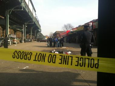 Three people were shot in Brownsville on Friday November 30, 2012.