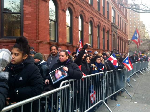 <p>Crowds lined up to pay their respects to &quot;Macho&quot; Camacho&quot; in Harlem Nov. 30, 2012.<br /> 	&nbsp;</p>