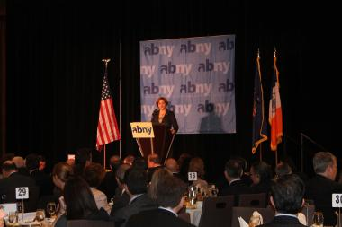 City Council Speaker Christine Quinn outlined her infrastructure agenda at an ABNY breakfast Nov. 13, 2012.