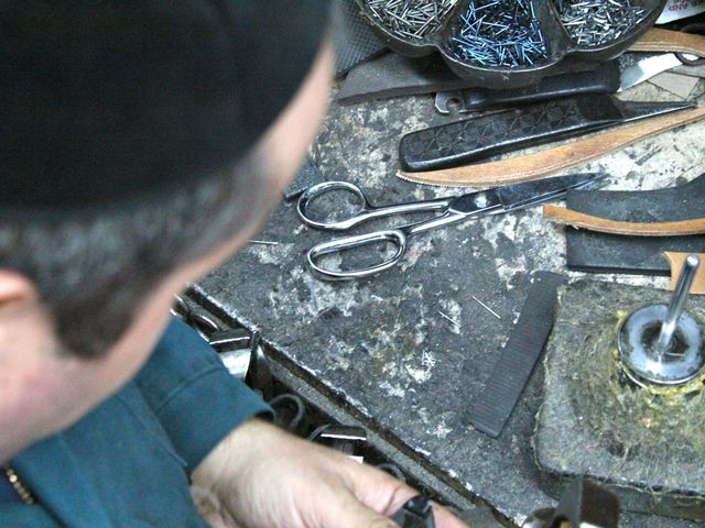 <p>Erik Koynoe said enjoying the job is important to being a good cobbler.</p>