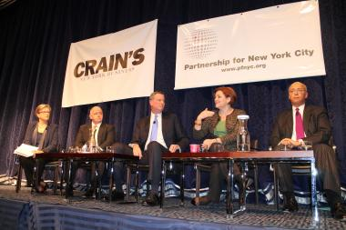 At a Crain's forum, the four Democrats vying to become mayor debated the city's economic future.