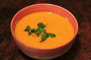 This sweet and spicy soup is packed with nutrients and great for the winter.