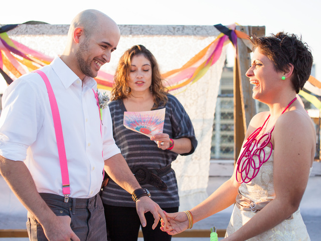 <p>Photographs from the wedding redo that Danielle and Wilfredo Rivera staged on the one-year anniversary of their first ceremony.<br /> 	<br /> 	All photos by <a href=