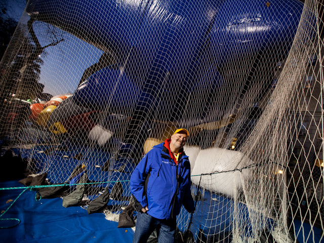 <p>Dany Jones, 53, from New York City and a balloon technician for 23 years for Macy&#39;s oversees the Thanksgiving Day Parade preparations on Nov. 21st, 2012.</p>