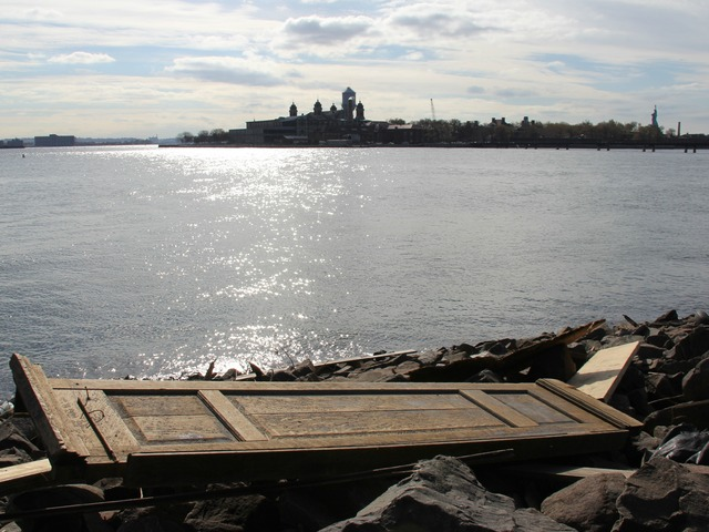 <p>A furnishing from Ellis Island dating to the mid-19th Century washed ashore in New Jersey following the storm.</p>