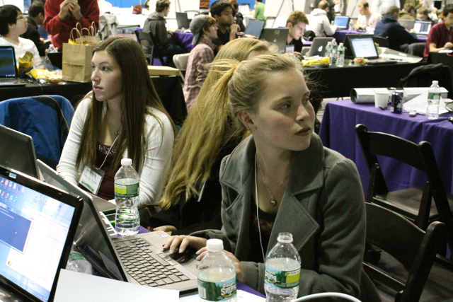 <p>Students participated in a &quot;hack-a-thon&quot; at NYU-Poly in Downtown Brooklyn on November 16, 2012.</p>