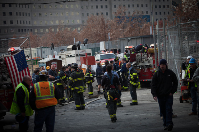 <p>Firefighters responded to a small fire at the World Trade Center Nov. 20, 2012.</p>