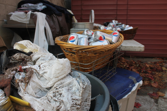 <p>VFW Post 5195 in Red Hook threw out piles of soda cans, hamburgers, and other supplies it had bought for its annual Veterans Day barbecue. The event was canceled as the post&#39;s power outage continued through Monday, Nov. 12, 2012.</p>