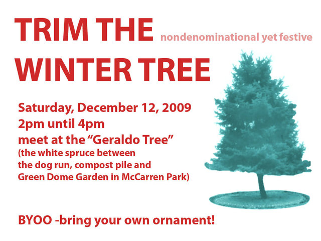 <p>The Geraldo Tree was known as the &quot;nondenominational but festive winter tree,&quot; local environmentalist Kate Zidar said.</p>