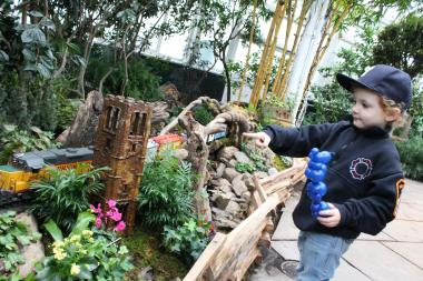 The popular annual display of model trains and miniature buildings runs at the New York Botanical Garden from November 17 to January 13.
