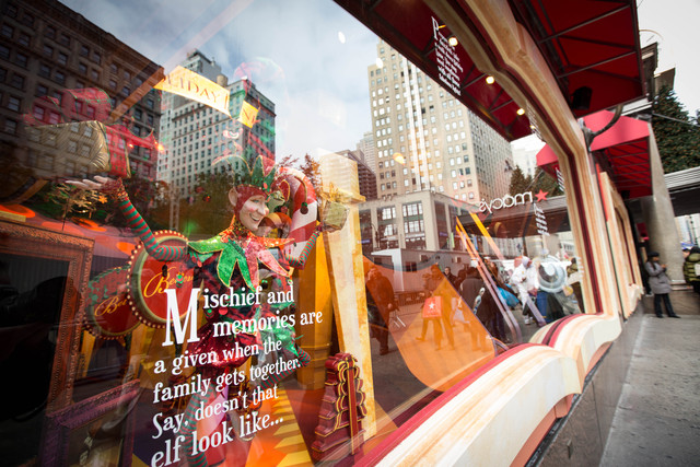<p>Macy&#39;s sticks with its classic &quot;The Magic of Christmas&quot; on its windows by Herald Square</p>