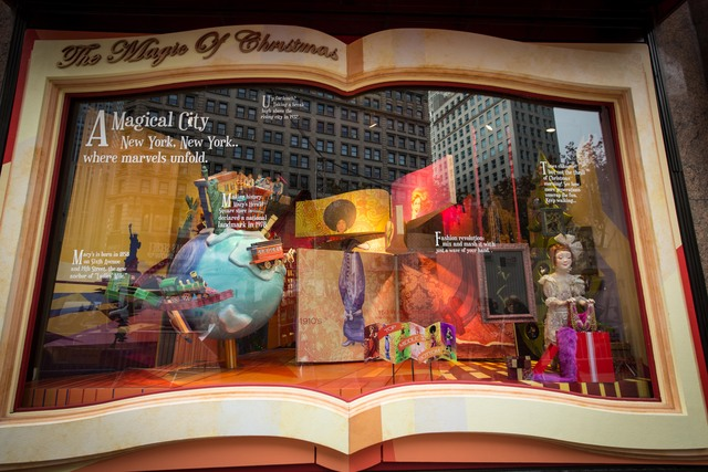 <p>A windows with the theme of &quot;the Magic of Christmas&quot; at Macy&#39;s</p>