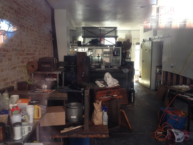 <p>Homemade restaurant on Van Brunt Street in Red Hook sustained serious flooding during Hurricane Sandy.</p>