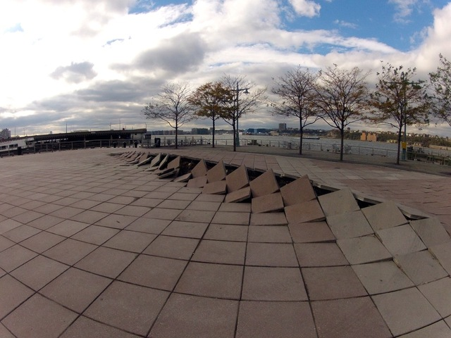 <p>Paving stones on Pier 84 in Hell&#39;s Kitchen buckled during Hurricane Sandy.&nbsp;</p>