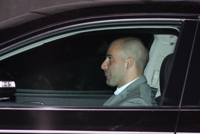 <p>Michael Jaccarino, a Brooklyn assistant district attorney, in his car outside the courthouse on November 10, 2012, after arraignment for allegedly choking and attacking a paramedic.</p>