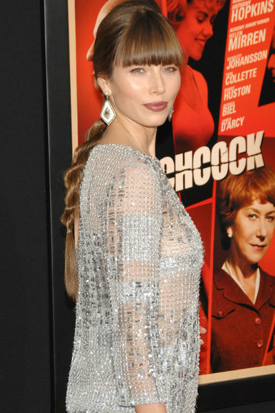 <p>Jessica Biel, in Oscar de la Renta, at the New York premiere of &#39;Hitchcock&#39; at the Ziegfeld Theater in Midtown, Sunday, November 18, 2012.</p>
