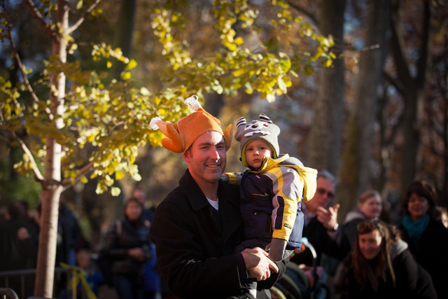 <p>Kevin Veneman, 34, and his son, Ayden came from San Antonio, Texas, for the Macy&#39;s Thanksgiving Day Parade.</p>