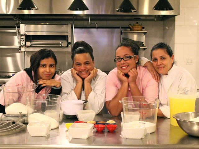 <p>Amarilis Jimenez, Miladys Ramirez, Valerie Galindo and Alice Ayala are all part of the Sweet Things baking program with the Lower Eastside Girls Club that teaches them cooking and business skills.</p>