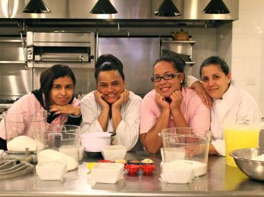 The nearby Astor Center donated its industrial kitchen for a week of baking.