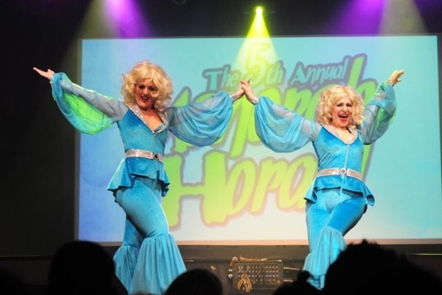 <p>The Schlep Sisters perform in the Menorah Horah, a Channukah-themed burlesque show.</p>