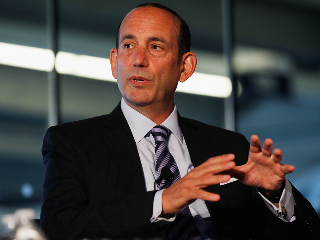 <p>MLS Commissioner Don Garber said on Nov. 26 that talks with New York City over a Queens soccer stadium were &quot;at the finish line.&quot;</p>