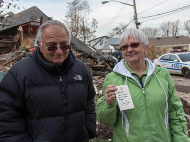 President Barack Obama visited Staten Island to survey damage from Hurricane Sandy.
