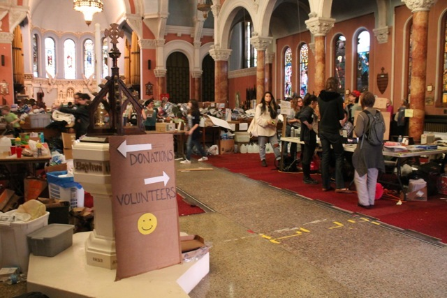<p>November 12, 2012 - Volunteers for Occupy Sandy have sorted, taken inventory of, loaded, and distributed over $650,000 dollars worth of donations to victims of Hurricane Sandy.</p>