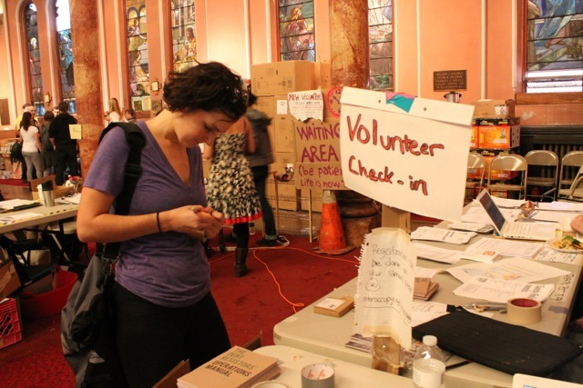 <p>November 12, 2012 - Hundreds of volunteers work with Occupy Sandy in Clinton Hill each day.</p>