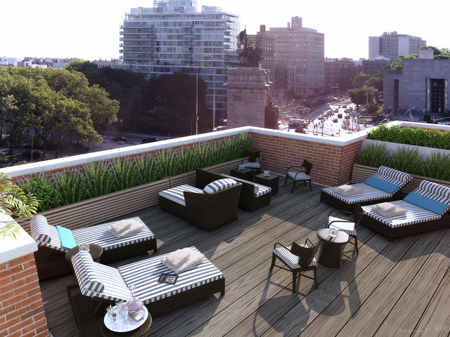 <p>The roof terrace at Park Union, which is on Union Street less than a block off Grand Army Plaza.</p>