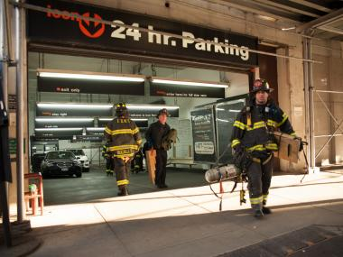 A man was killed by a falling SUV in a Financial District Garage on Nov. 26, 2012.