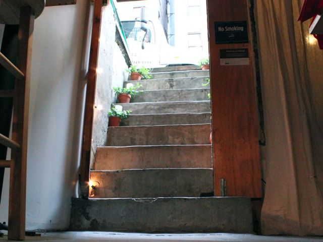 <p>The stairs leading to the 123 Ludlow St. basement space of Perfect Picnic.</p>