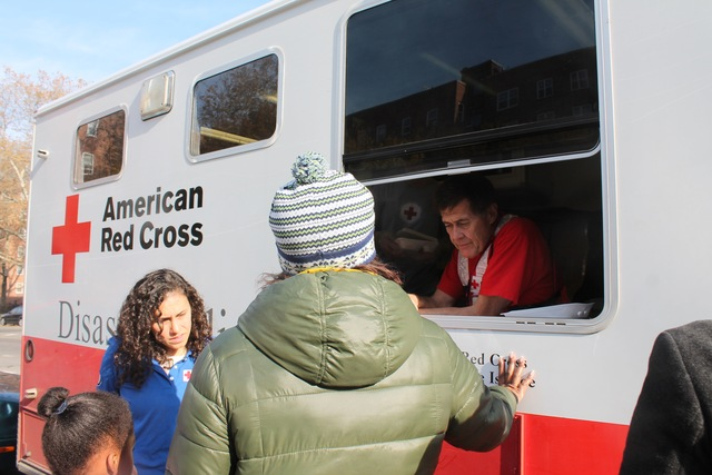 <p>An American Red Cross team from Duluth, Minn., helped Red Hook Houses residents Monday afternoon, Nov. 12, 2012.</p>