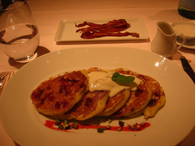 <p>Pancakes at the&nbsp;Russian Tea Room.</p>