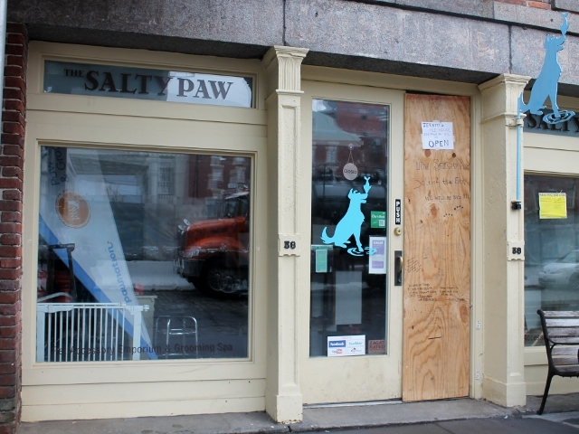 <p>It could be up to six months before The Salty Paw, at 38 Peck Slip, can reopen due to flood damage during Hurricane Sandy. In the meantime, the shop plans to operate from another location in the neighborhood.</p>
