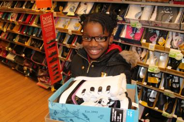 Payless donated $40,000 worth of shoes to three Boys and Girls Clubs in New York and New Jersey to help people affected by the storm. Kids visited the store on 125th Street in Harlem to pick out their shoes.