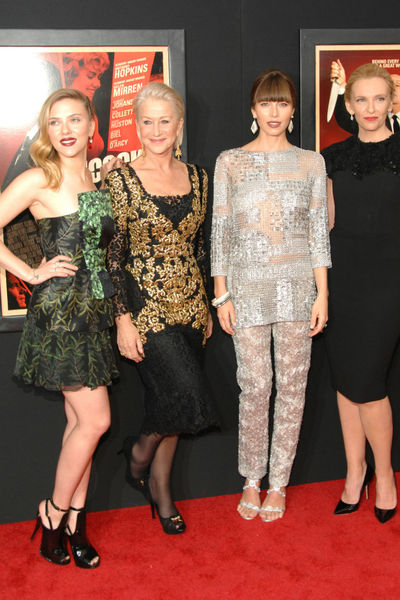<p>Scarlett Johansson, Helen Mirren, Jessica Biel, Toni Collette at the New York premiere of &#39;Hitchcock&#39; at the Ziegfeld Theater in Midtown, Sunday, November 18, 2012.</p>