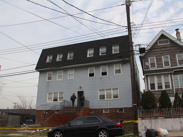<p>Two men were shot, one killed, when gunfire erupted at 73 Bodine St. on Friday November 30, 2012, cops said.</p>