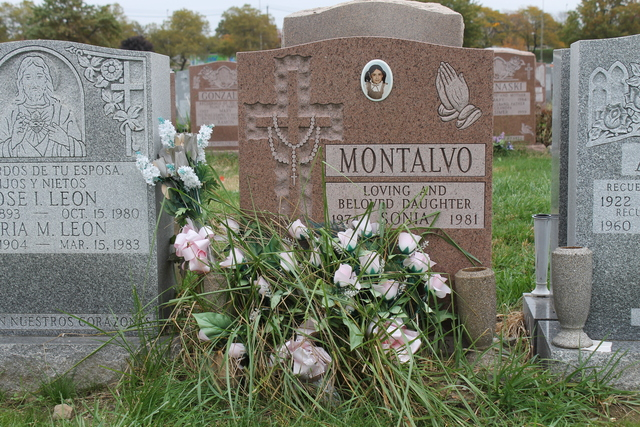 <p>Sonia Montalvo was buried at St. Raymond&#39;s Cemetery in 1981. Montalvo&#39;s mother, Gladys Lugo, recently asked that her body be moved to a grave site in New Jersey that is closer to her home.</p>