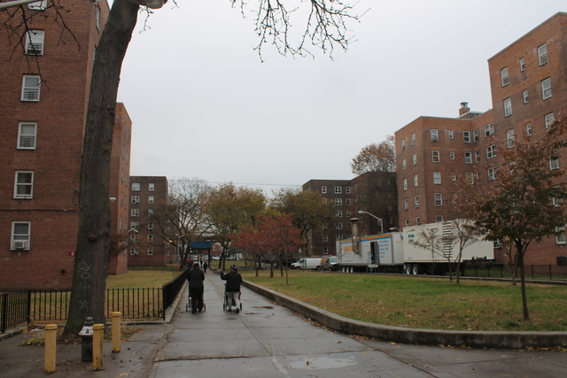 <p>The Red Hook Coalition helped coordinate outreach in the Red Hook Houses, which went without power, heat and hot water for as long as three weeks after Hurricane Sandy landed Oct. 29, 2012.</p>