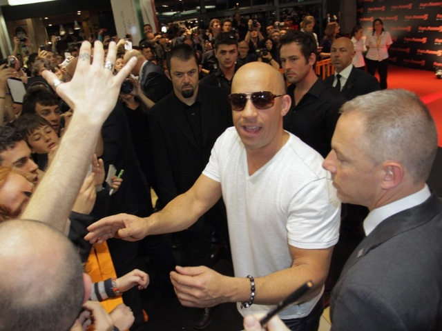 <p>Vin Diesel attends the &quot;Fast &amp; Furious 5&quot; premiere at UGC Cinema on April 29, 2011 in Rome, Italy.</p>