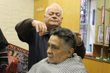 New Barber Shop, long a fixture on Ninth Avenue, moved to a spot on West 18th Street.