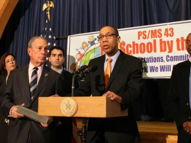 Schools Chancellor Dennis Walcott visited a newly reopened school Nov. 19, 2012 in the Rockaways.