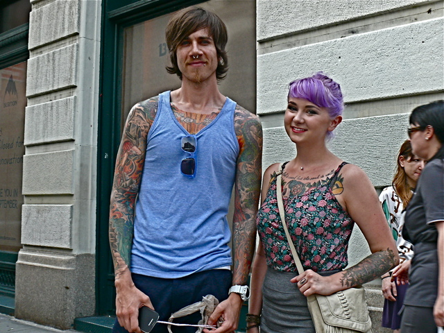<p>A forthright ownership of style on Justin A. and Kelsy S. in SoHo.</p>
