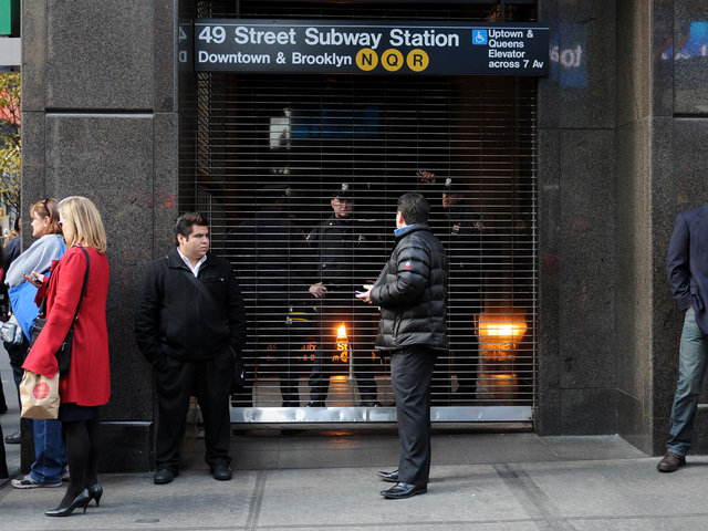 <p>Police investigated the death of a man who was struck by a train at the 49th Street and Seventh Avenue Q station Dec. 3, 2012.</p>