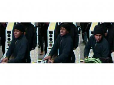 Cops are looking for a young man who tried to take another man's backpack on Tuesday December 11, 2012.