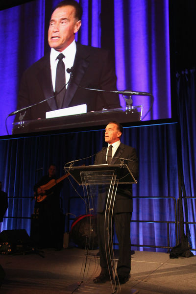 <p>Arnold Schwarzenegger, being named 2012 Global Advocate of the Year by the United Nations&#39; Correspondents Association at Cipriani 42nd Street. Wednesday, December 19, 2012.</p>
