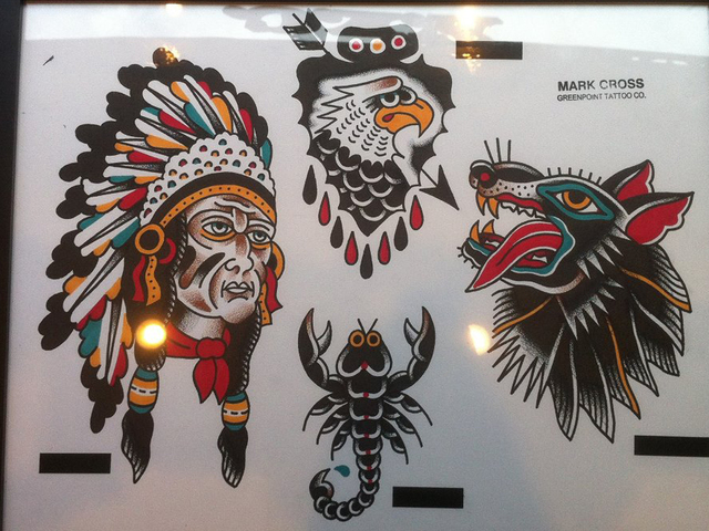 <p>Designs by Marc Cross, of Greenpoint Tattoo in North Carolina.</p>