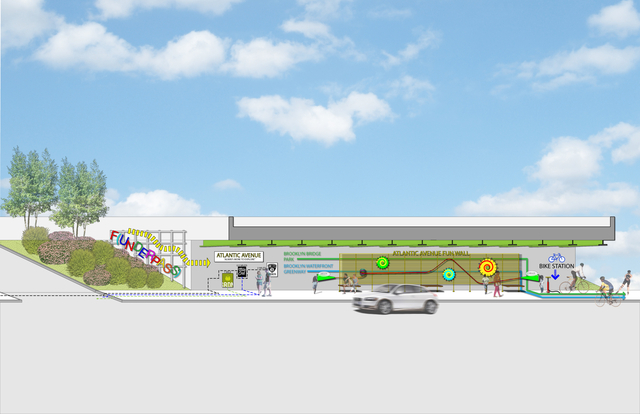 <p><span>An official rendering has not yet been prepared, but a potential draft of the concept calls for a portion with colorful artwork along the walls called the &ldquo;funderpass&rdquo; and a bike pumping station.</span></p>